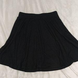 love Fire black skater ribbed skirt size M